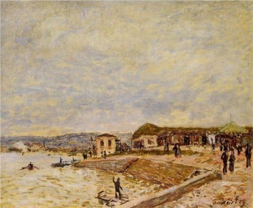 Seine at Daybreak - Alfred Sisley