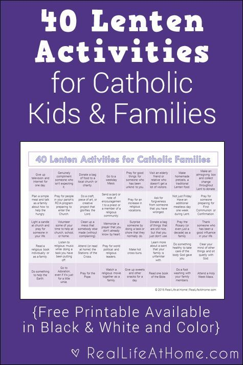 40 Lenten Activities For Catholic Families Free Printable Holy