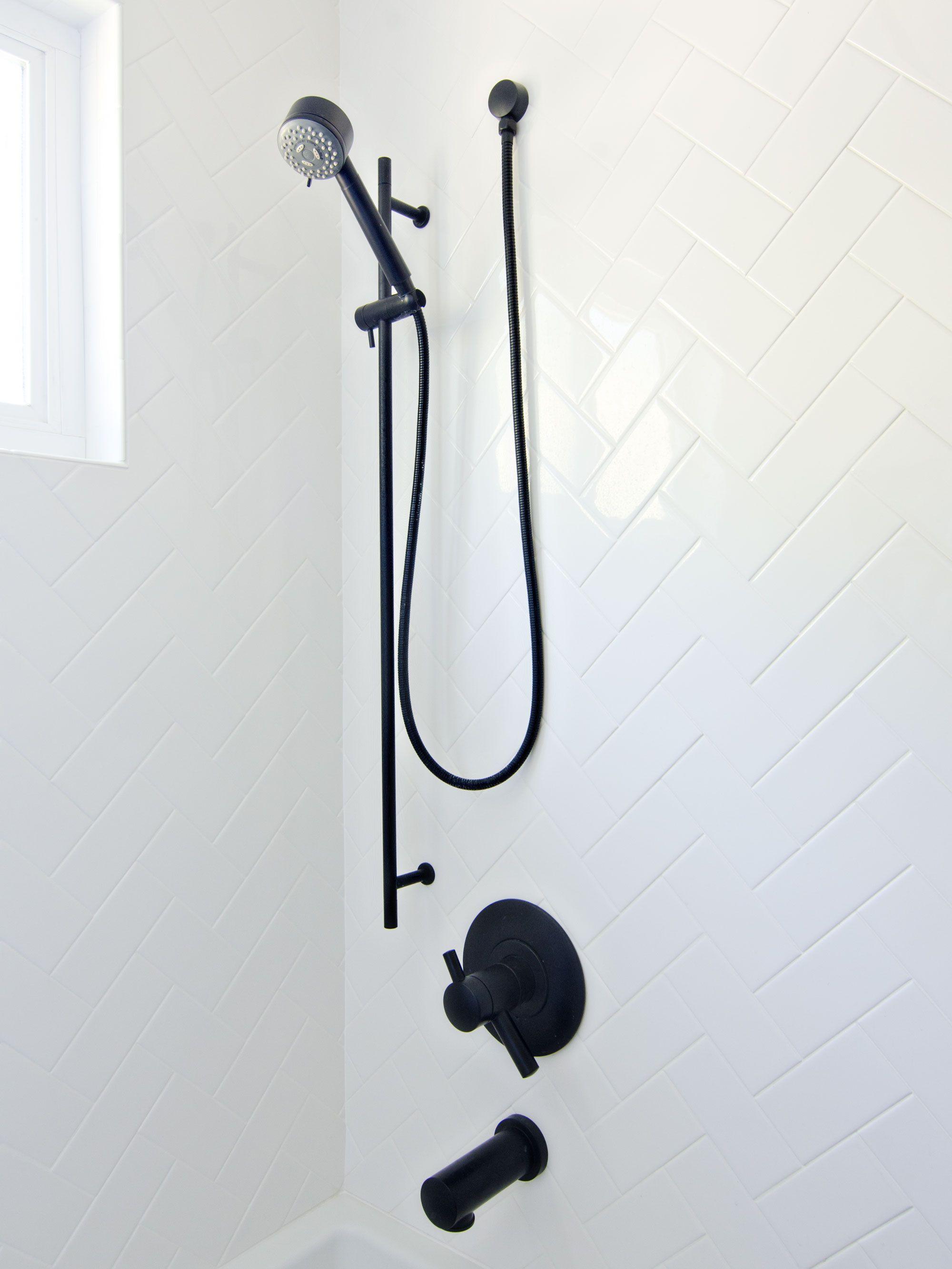 Matte black Jason Wu Brizo shower head & faucet   brittanyMakes ...