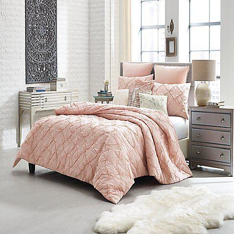 Anthology Trade Mina King Mini Comforter Set In Blush Comforter