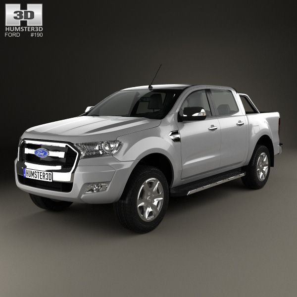 ford ranger doublecab 2015 3d model from. Black Bedroom Furniture Sets. Home Design Ideas