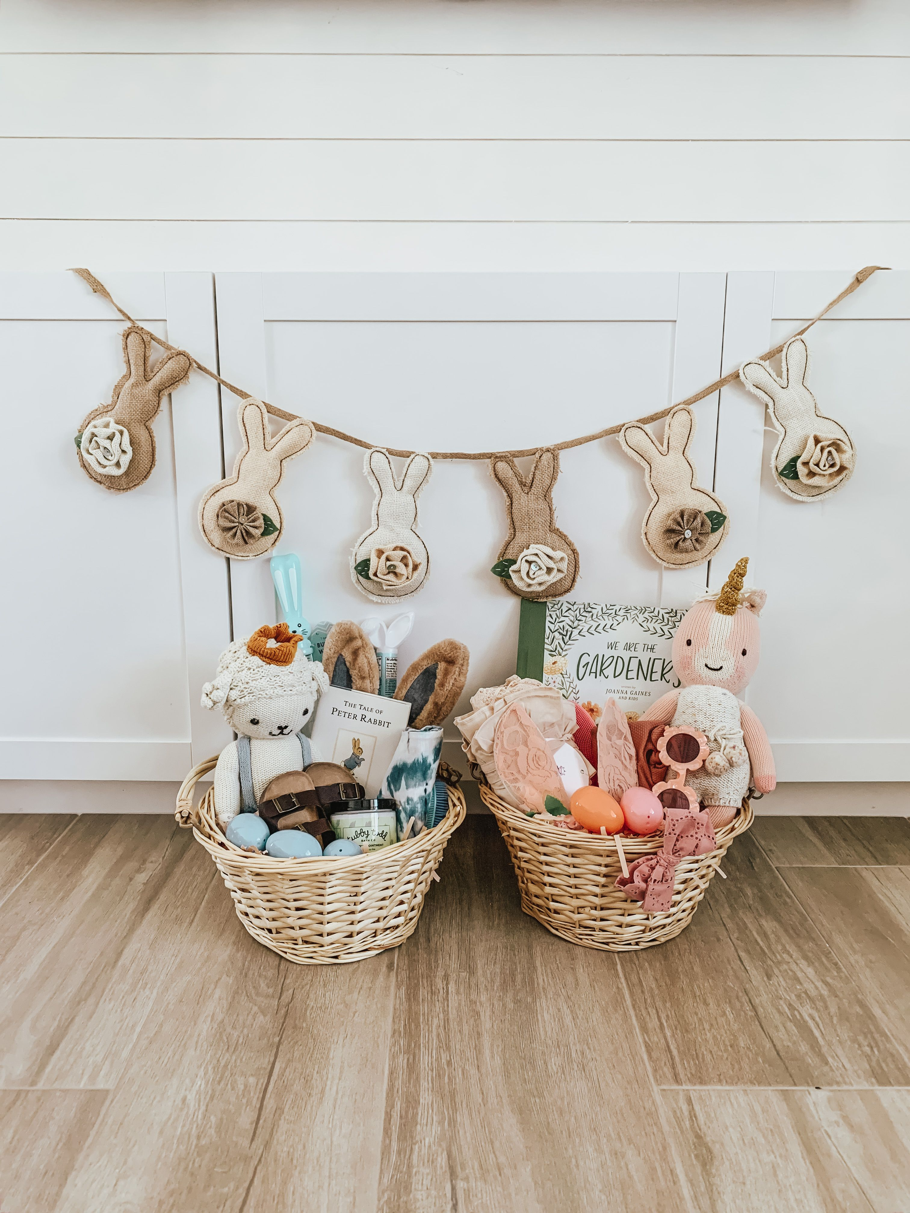 Easter Basket Ideas For Kids Baby S And Toddlers Toddler Gifts Easter Baskets Cuddle Kind