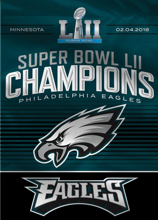 b54f042721a Philadelphia Eagles Patch NFL Super Bowl 52 Champions LII Fully Embroidered  4.5