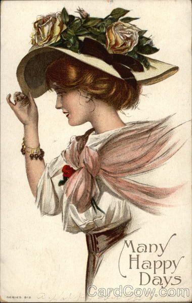La Mujer Del Sombrero Vintage Postcards Vintage Portraits Vintage Ladies