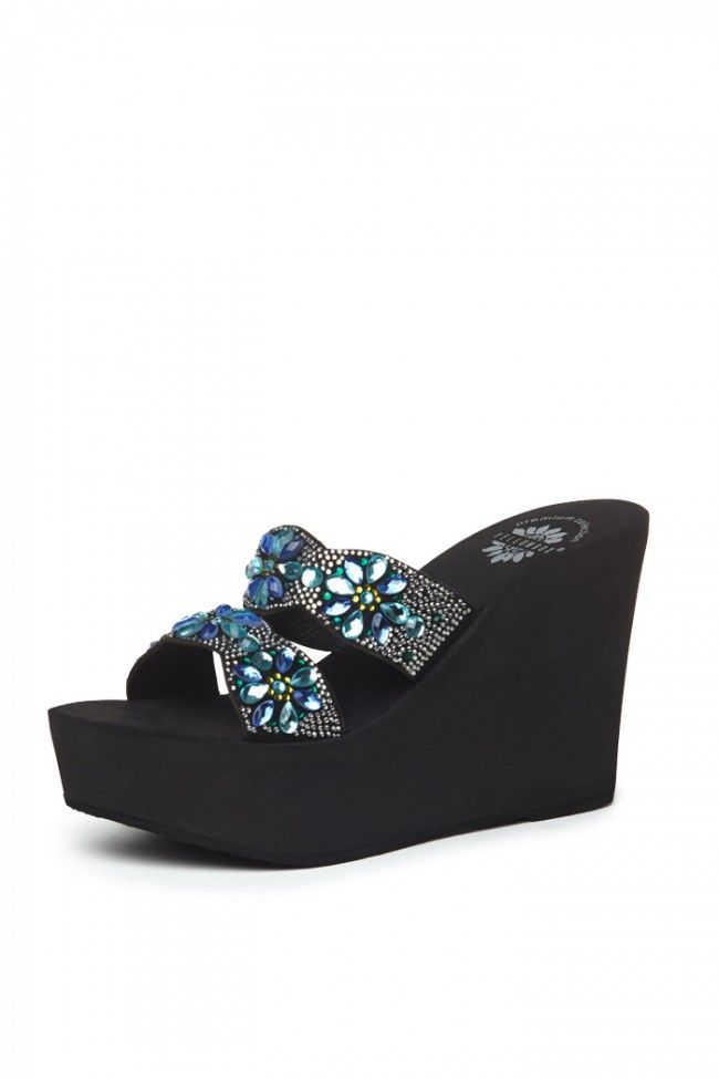 cbe93b75d23 Paloma Wedge Sandal in Blue