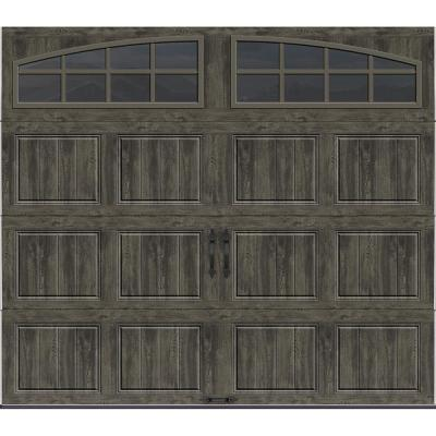 Clopay Gallery Collection 8 Ft X 7 Ft 6 5 R Value Insulated Ultra Grain Slate Garage Door With Arch Window Garage Doors Garage Door Design Garage Door Colors