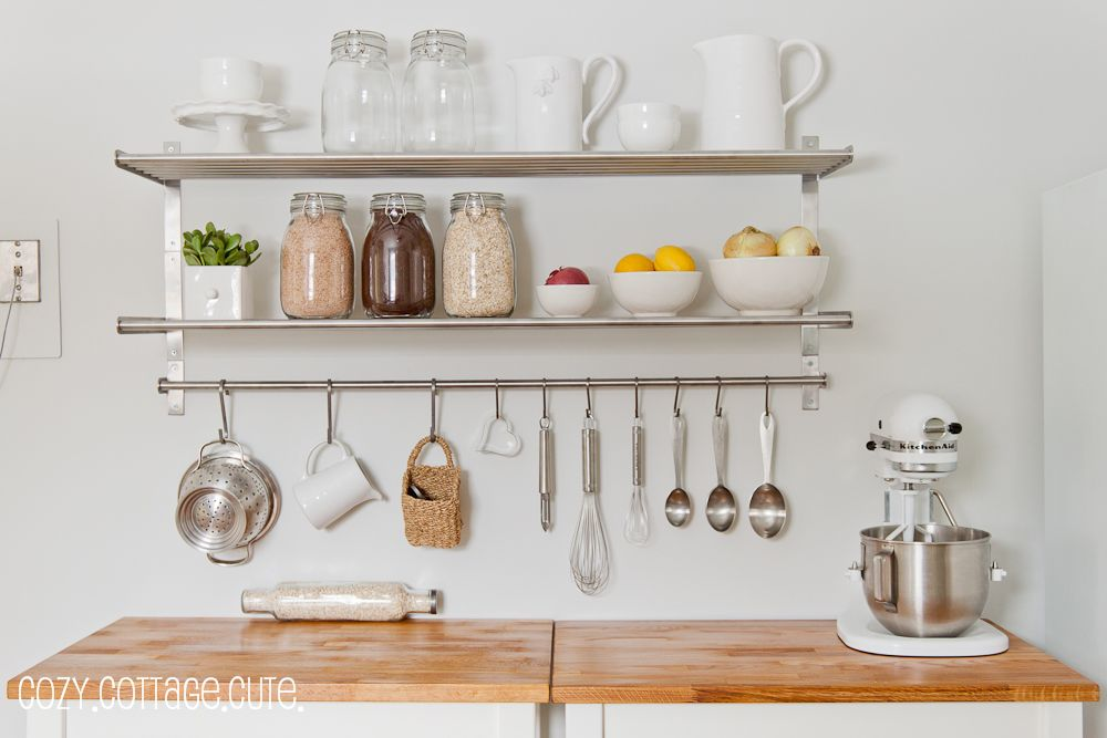 Pin by Magda Em on + diy | Kitchen wall shelves, Kitchen ...