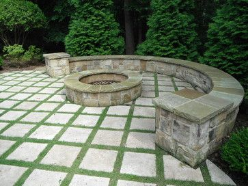 Landscape Architecture Traditional Patio Flagstone Patio Fire Pit Landscaping Patio Stones
