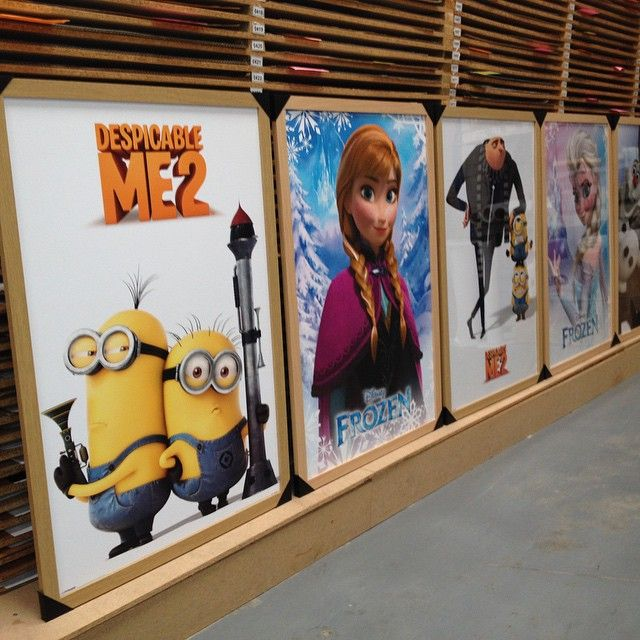 Framed children's posters for one of our customers