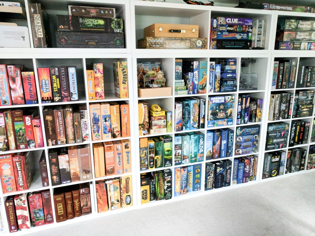 How We Organize And Store Our Board Games Board Game Room Board