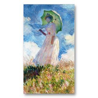 Woman with a parasol claude monet art business card templates art woman with a parasol claude monet art business card templates reheart Image collections