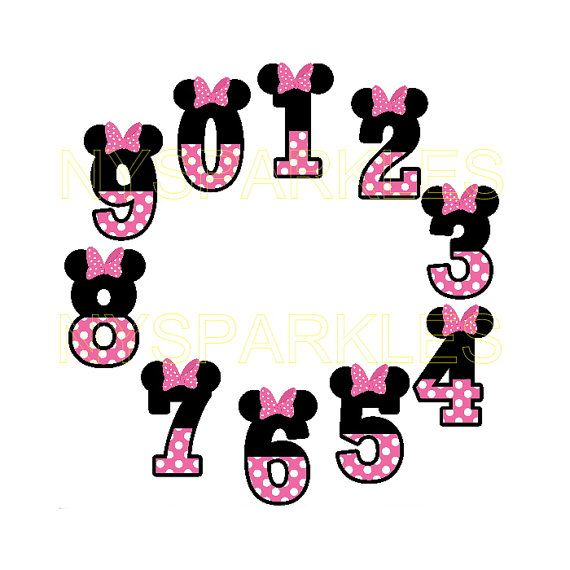 Listing is for a super cute iron on applique in your choice of number! Custom printed Minnie Mouse number iron on. Made for use with dark or light
