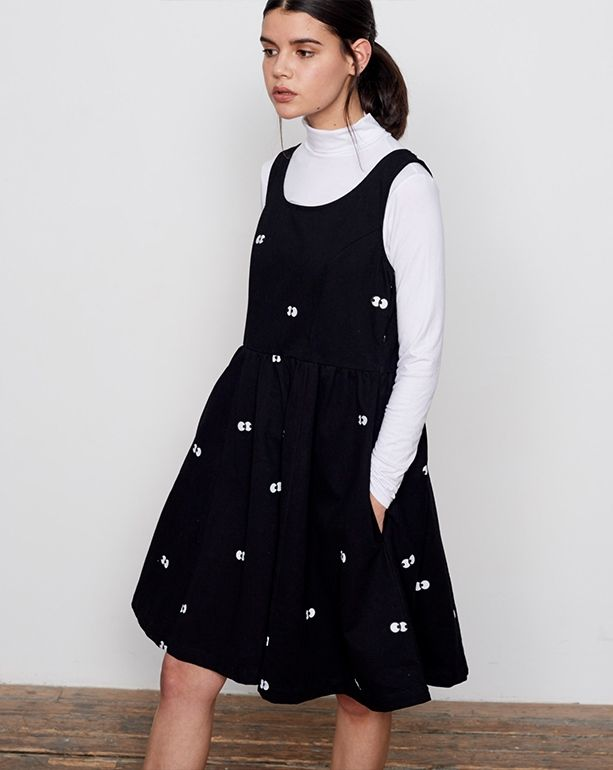 c0138d27841d9 Lazy Oaf Eyeball Pinafore Dress - Clothing - New In - Womens | Kids ...