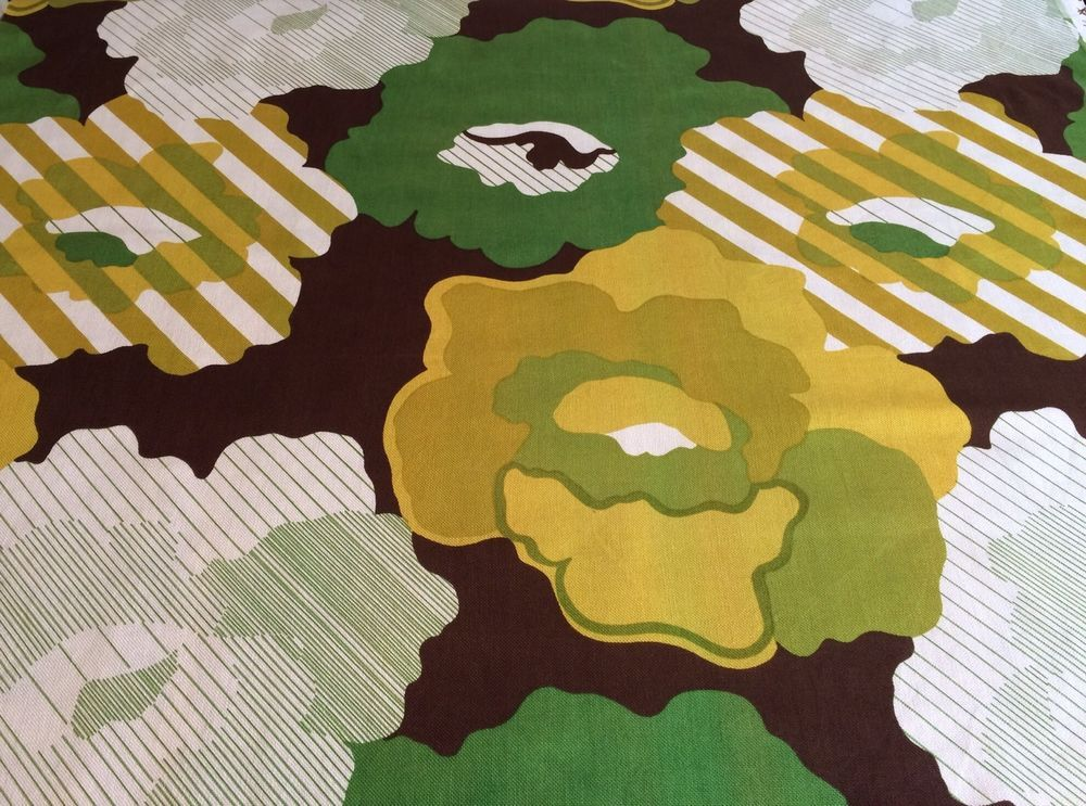 """VTG JONELLE """"Cumulus"""" Fabric Material 60s 70s Abstract"""