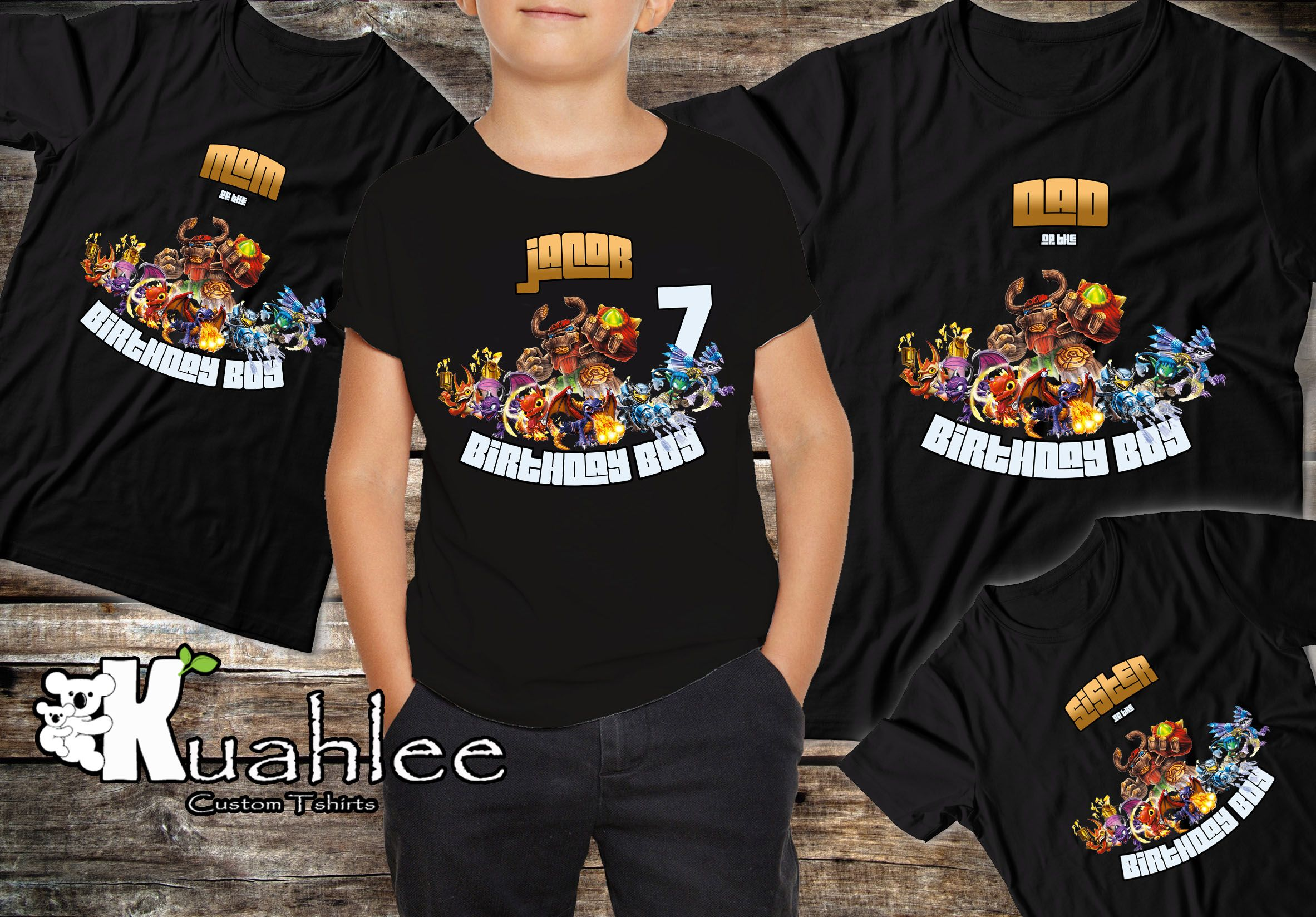 Skylander Birthday Party Boy Shirt Ideas 7th 8th 9th 10th