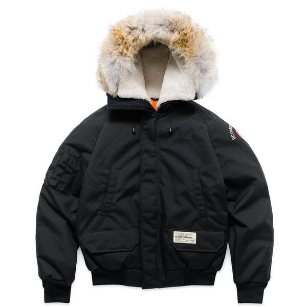 Ovo X Canada Goose Chilliwack Jacket Black 5 130 Ron Liked On Polyvore Featuring Outerwear Jackets H Canada Goose Women Heavy Jacket Canada Goose Jackets