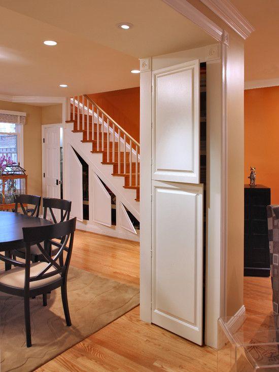 Hidden Pantry Under Stairs
