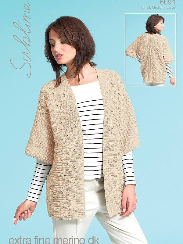 703a37b4c Kimono jacket knitting pattern by Sublime  download the pattern at Laughing  Hens