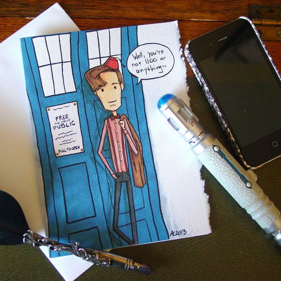 Doctor Who Birthday Card Eleventh Doctor Not 1100 Yet