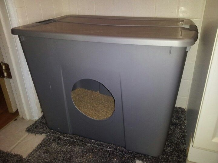 DIY storage container covered kitty litter box 34 gallon 15