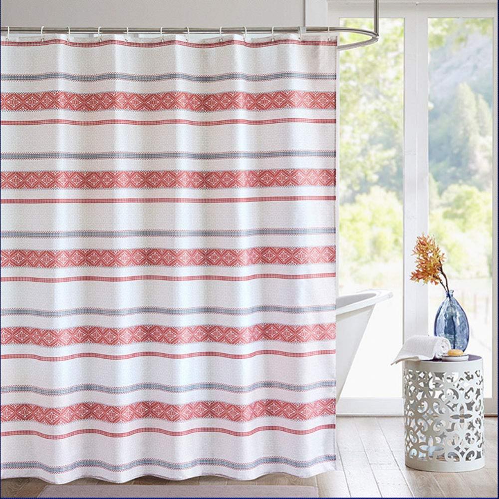 Amazon Com Aorro Simple Stripe Shower Curtain Set Modern Design