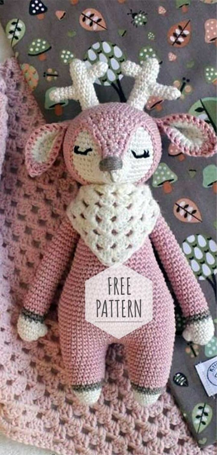 Amigurumi Deer Free Pattern #crochetanimals