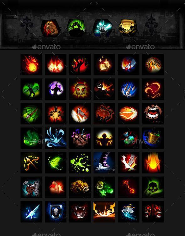 Free rpg skill icons
