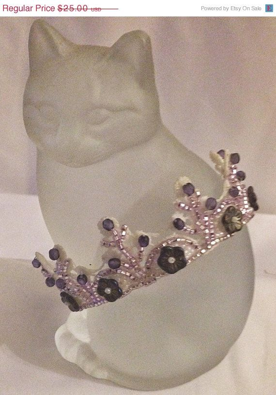 BIG SALE Mini Crown Princess Crown Holy by bjswearableart on Etsy #minicrown, #partycrown, #holycommunion, #ballet, #flowergirl,