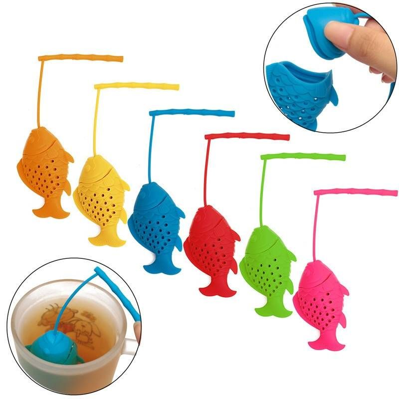 Silicone Fish Tea Strainer Infuser Tea Leaf Spice Herbal Filter Diffuser at Banggood