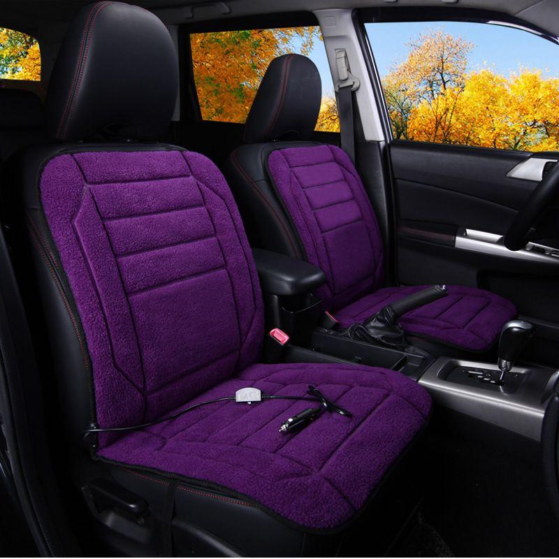 TB01-1DC12purpleCar heating cushion 12V electric heating seat car winter heating car mat winter heating seat cushion  EUR 110.64  Meer informatie  http://ift.tt/2hFc6iN #aliexpress