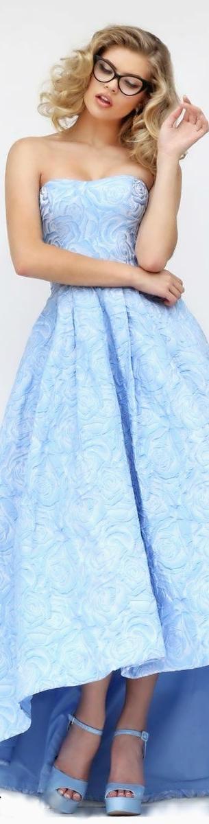 Sherri Hill Azul Y Rosa Pastel Vestido De Xv Azul