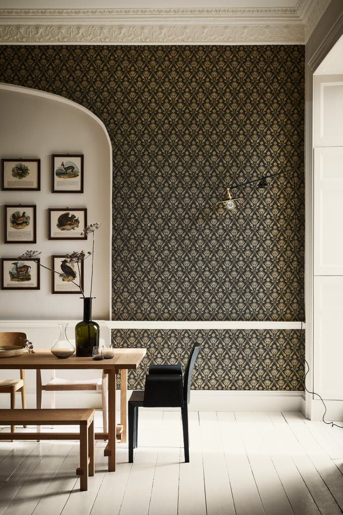 The Fresh Way To An Accent Wall And No It Has Nothing To Do With Paint Modern Wallpaper Accent Wall Bathroom Wallpaper Contemporary Kitchen Wallpaper Design