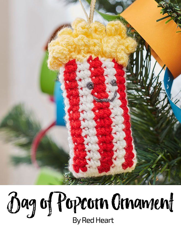 Bag of Popcorn Ornament free crochet pattern in Super Saver ...