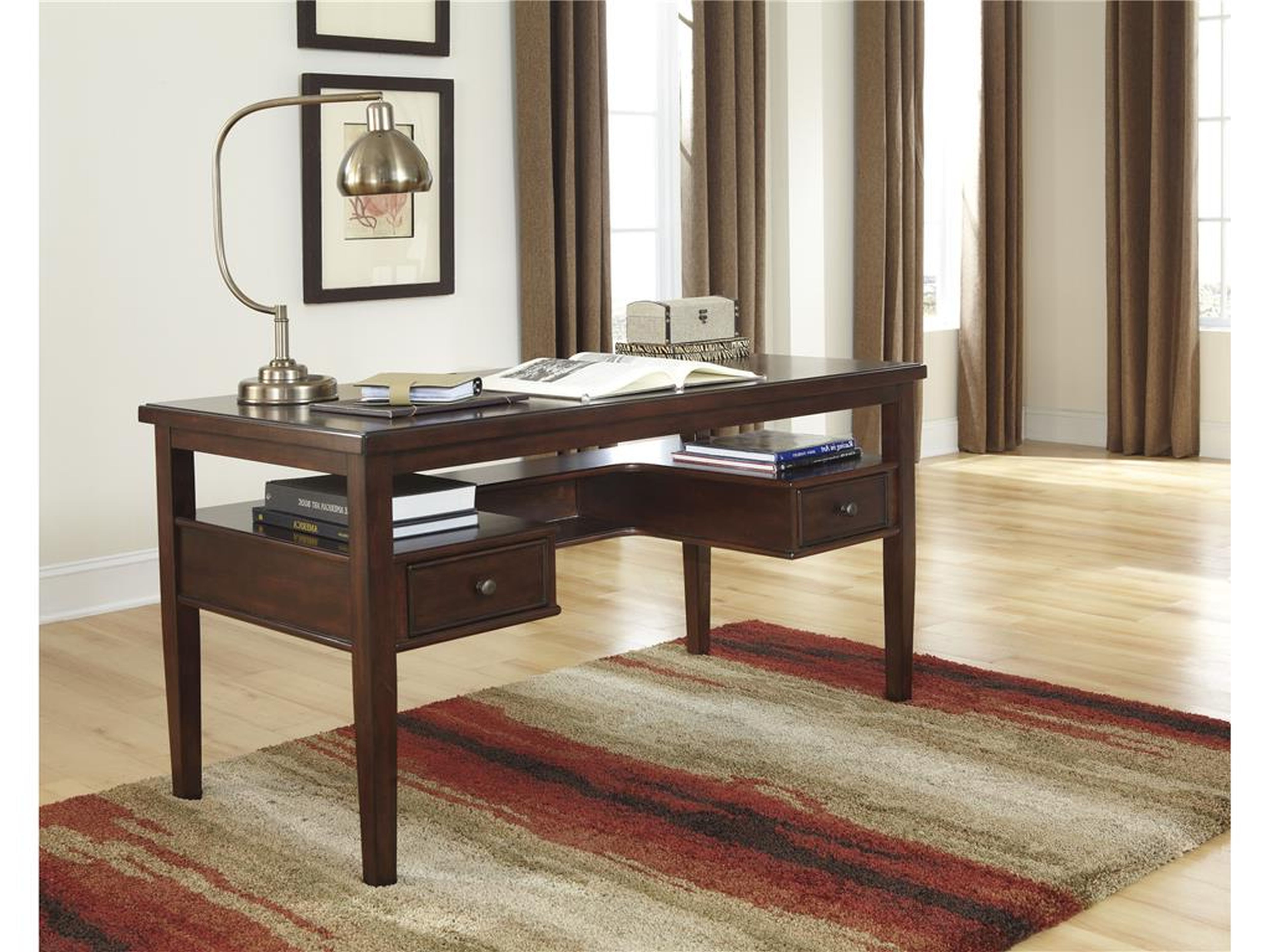 Furniture Impressive Deep Brown Wooden Desk Ideas For Small