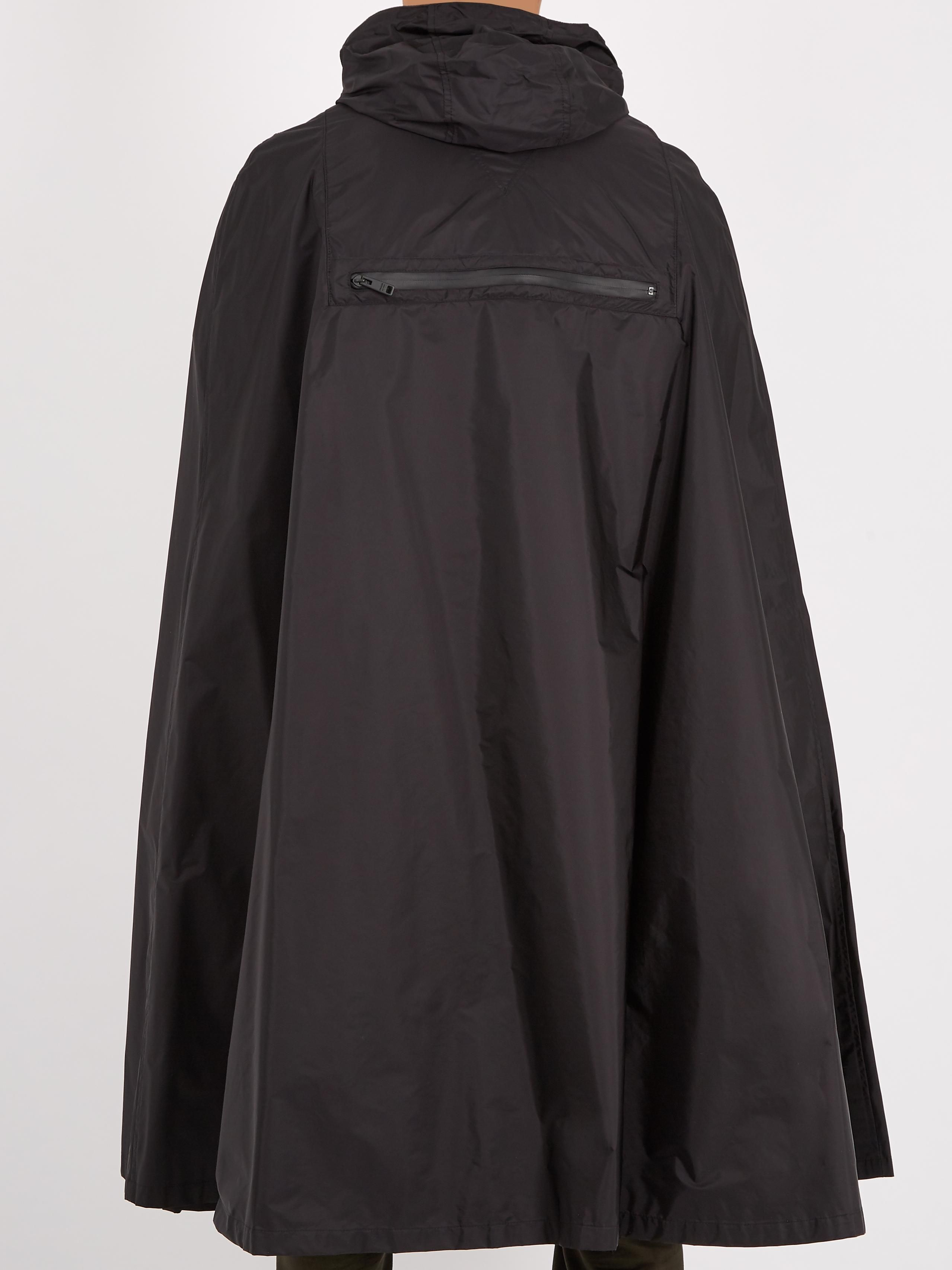 Products Related to Prada Black Waterproof Nylon Cape Coat in Black for Men 8c9136e06