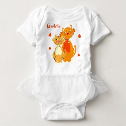 Ginger cat and kitten super cute personalized baby bodysuit baby ginger cat and kitten super cute personalized baby bodysuit baby gifts child new born gift negle Images
