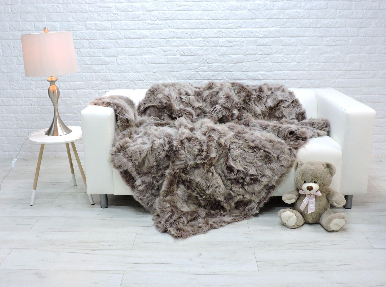 Luxury Toscana Fur Throw Fur Blanket Sheepskin Cover Sofa Etsy Sheepskin Blanket Fur Blanket Sofa Covers