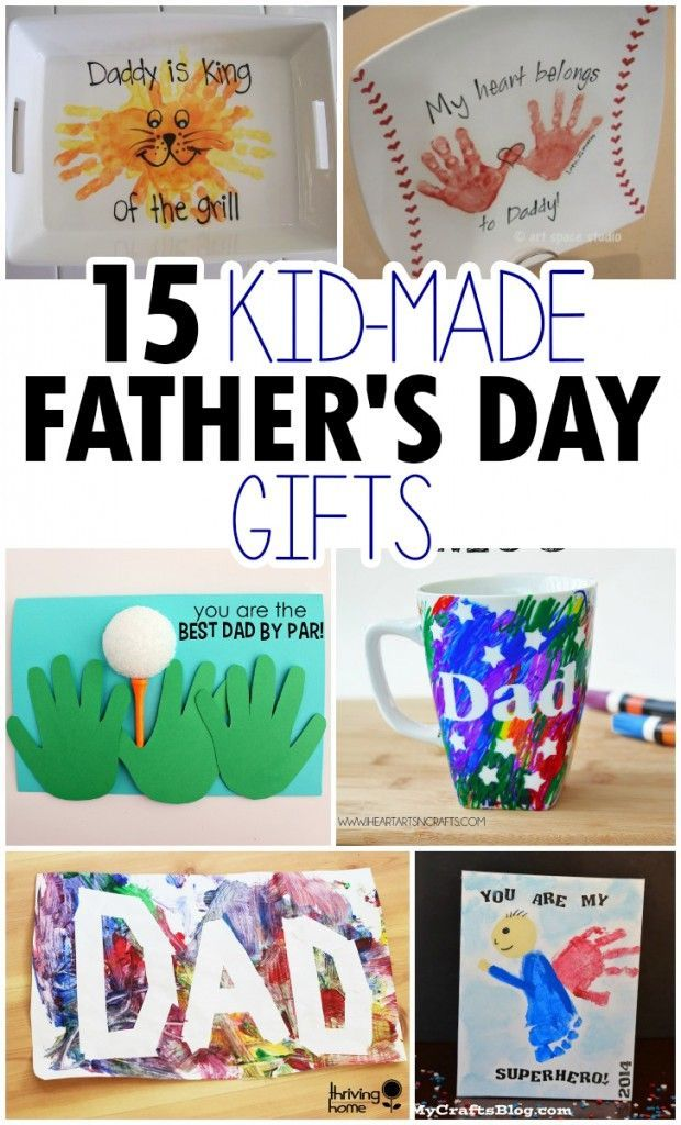 15 Kid Made Father S Day Crafts Father S Day Ideas For Kids