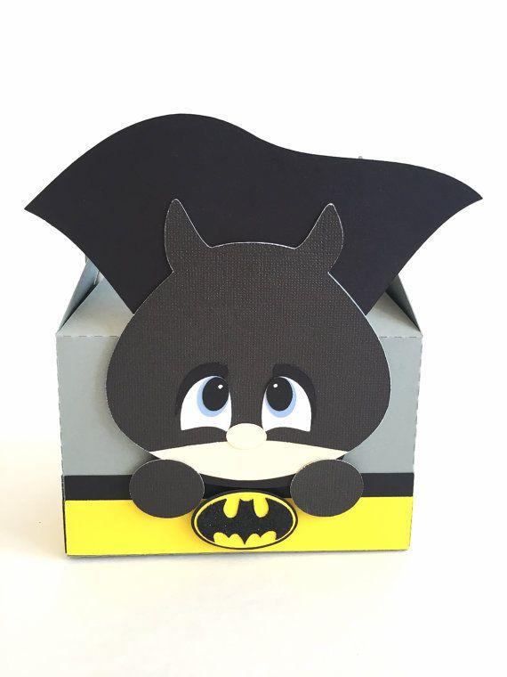 Batman favor boxes - Set of 12 | Superhero box | Batman theme ...