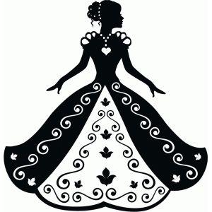silhouette design store cinderella in ball gown silhouette