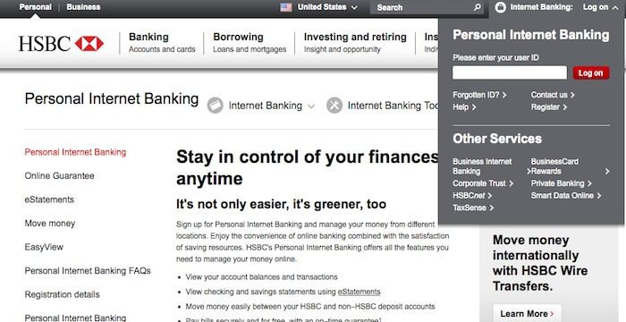 Hsbc Login Corporate Bank Investing Accounting
