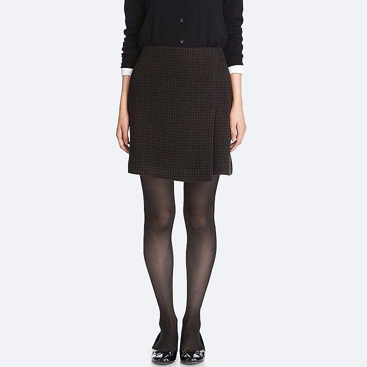 af569a62f Women wool blended wrap mini skirt   Höst 2017   Mini skirts, Skirts ...