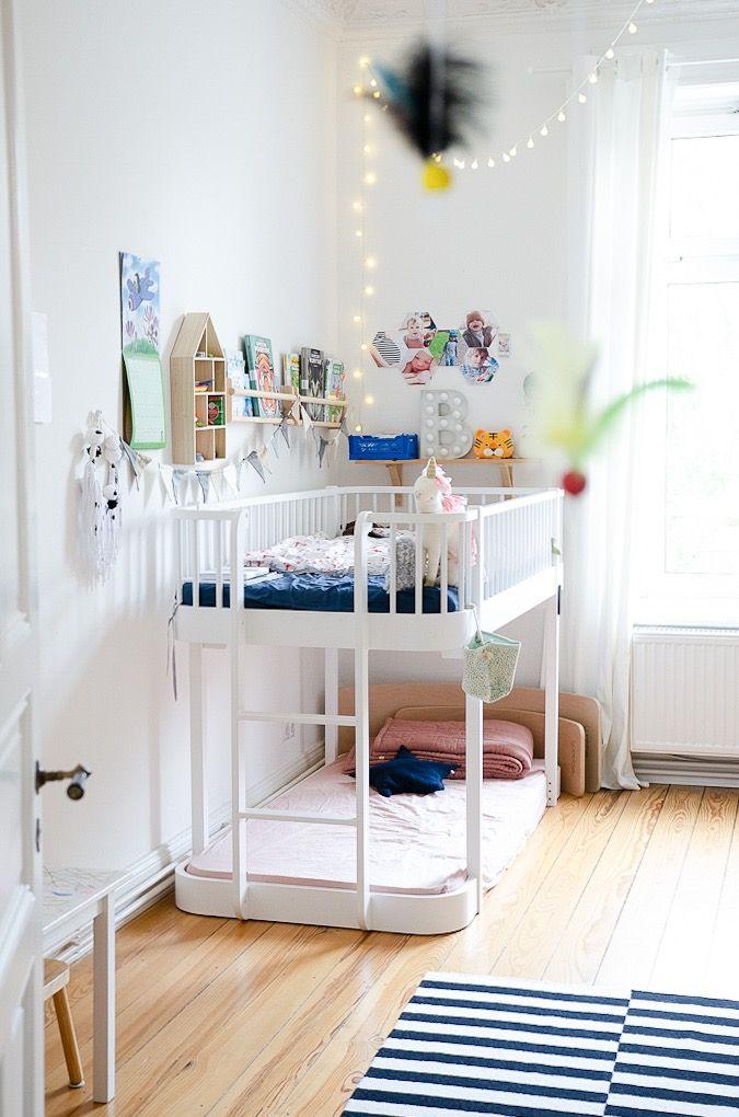 Pin auf Bodenbett und Kinderzimmer