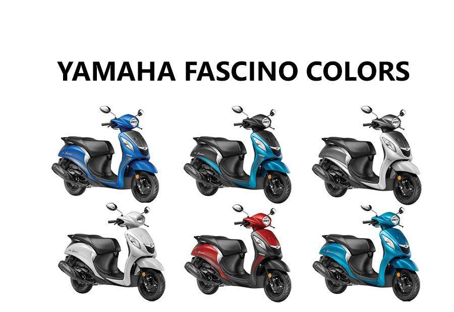 Yamaha Fascino Colors Blue Red Cyan White Yamaha Blue Color