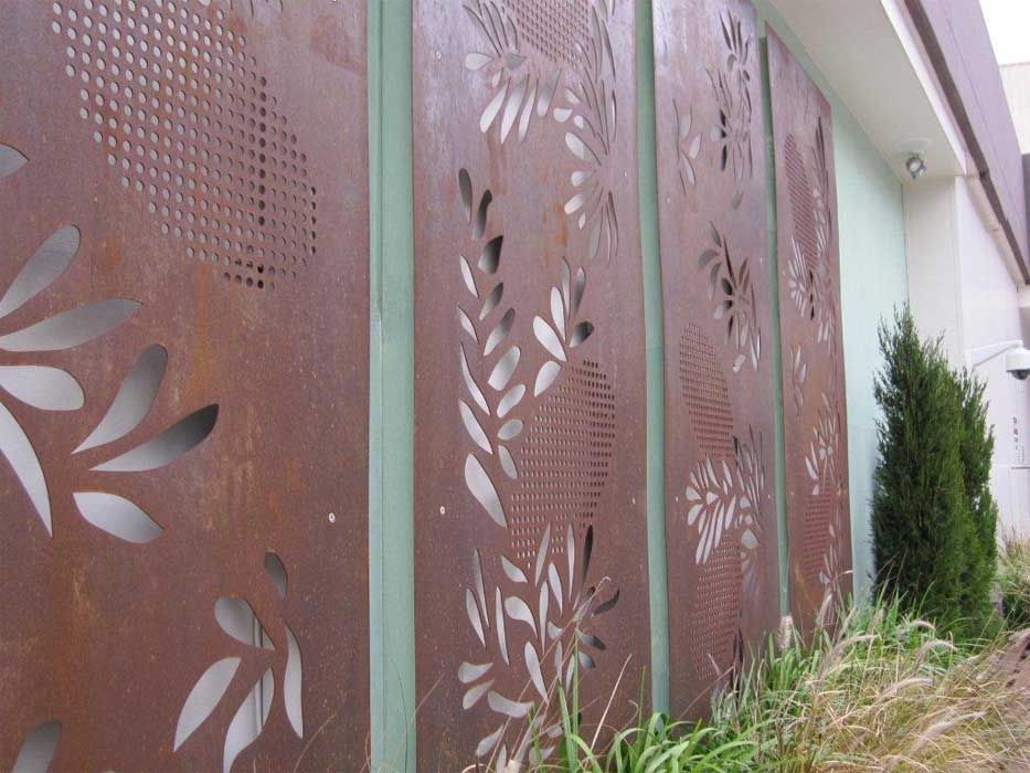 Metal Privacy Screen metal privacy screen corten steel | fences | pinterest | privacy