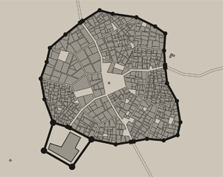 Medieval style (European?) town and city map generator