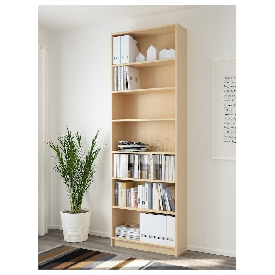 Billy Bookcase Birch Veneer 31 1 2x11x93 1 4 Ikea Ikea Billy Bookcase Billy Bookcase White Bookcase
