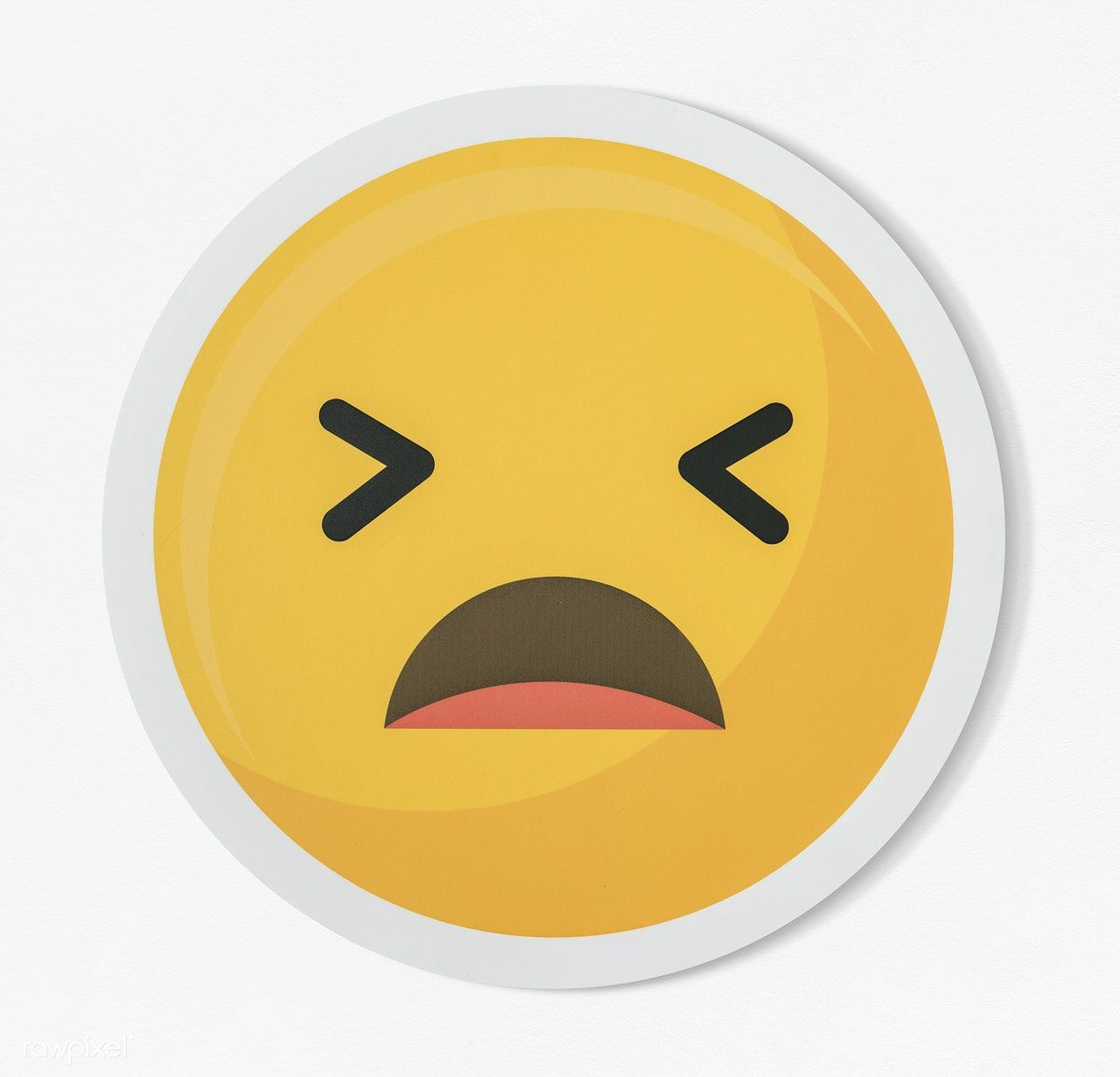 Download Premium Psd Of Disappointed Emoticon Emoji Face Icon 402404 Face Icon Emoji Faces Emoticon