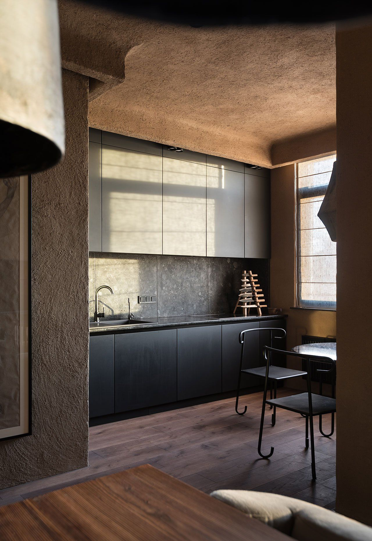 imperfection is beautiful the wabi sabi apartment by sergey makhno in kiev ukraine inspiring. Black Bedroom Furniture Sets. Home Design Ideas