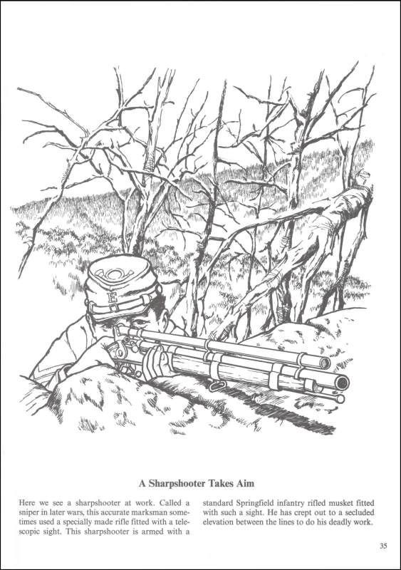 Soldier\'s Life in the Civil War Coloring Book | all ...